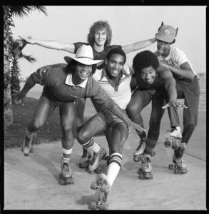 Apollo (Kerry Gordy, Lenny Greene, Cliff Liles, Benny Medina and Larry Robinson) 1977 © 1978 Bobby Holland - Image 24331_0308