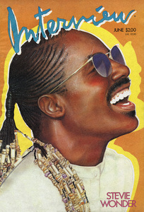 Stevie Wonder (treatment by Richard Bernstein for the June 1986 edition of Interview Magazine)1986© 1985 Bobby Holland (underlying photo) - Image 24331_0317a