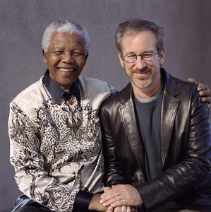 Nelson Mandela and Steven Spielberg2000© 2000 Dana Gluckstein - Image 24349_0016