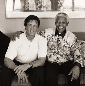 Sylvester Stallone and Nelson Mandela2000© 2000 Dana Gluckstein - Image 24349_0035