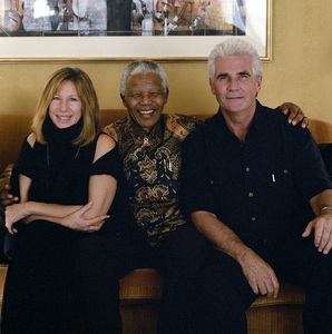 Barbra Streisand with Nelson Mandela and her husband, James Brolin2000© 2000 Dana Gluckstein - Image 24349_0066