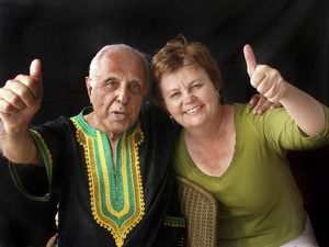 Ahmed Kathrada and wife Barbara Hogan2009© 2009 Dana Gluckstein - Image 24349_0166