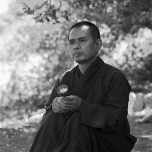 Thich Nhat Hanh at the Ojai Foundation in California1987 © 1987 Dana Gluckstein - Image 24349_0174