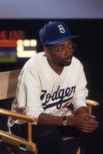 "Director Spike Lee being interviewed on ""48 Hours""1990© 1990 Patrick D. Pagnano - Image 24351_0003"