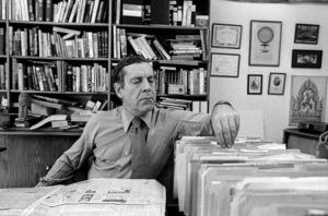 Morley Safer at his office at CBS Studioscirca 1982© 1982 Patrick D. Pagnano - Image 24351_0010