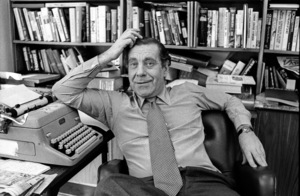 Morley Safer at his office at CBS Studioscirca 1982© 1982 Patrick D. Pagnano - Image 24351_0011