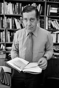 Morley Safer at his office at CBS Studioscirca 1982© 1982 Patrick D. Pagnano - Image 24351_0012