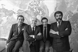 """60 Minutes""Morley Safer, Harry Reasoner, Mike Wallace, Ed Bradleycirca 1981© 1981 Patrick D. Pagnano - Image 24351_0027"