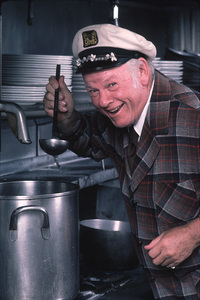 "Alan Hale Jr. at his restaurant called ""Alan Hale"