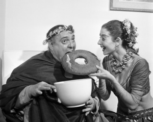 Zero Mostel during a
