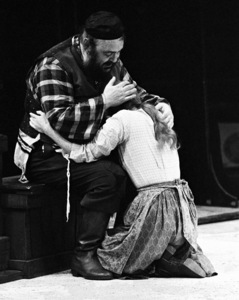"Zero Mostel performing in ""Fiddler on the Roof"" at Westbury Music Fair in New York 1971© 1978 Barry Kramer - Image 24354_0123"