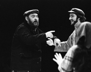 """Zero Mostel performing in """"Fiddler on the Roof"""" at Westbury Music Fair in New York 1971© 1978 Barry Kramer - Image 24354_0128"""