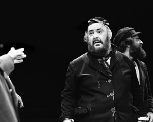 """Zero Mostel performing in """"Fiddler on the Roof"""" at Westbury Music Fair in New York 1971© 1978 Barry Kramer - Image 24354_0133"""
