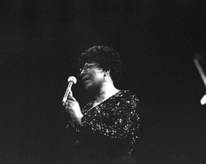 Ella Fitzgerald performing at the Westbury Music Fair1975© 1978 Barry Kramer - Image 24354_0263