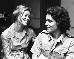 "Faye Dunaway rehearsing with Chris Sarandon for ""Candida"" at Playhouse in the Park in New York 1971 © 1978 Barry Kramer - Image 24354_0282"