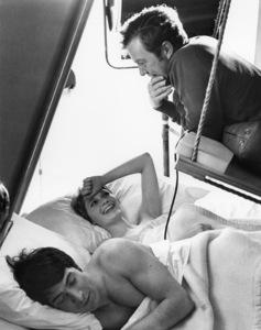 "Dustin Hoffman, Mia Farrow and Peter Yates on the set of ""John and Mary""1969 20th Century-Fox** B.D.M. - Image 24357_0001"