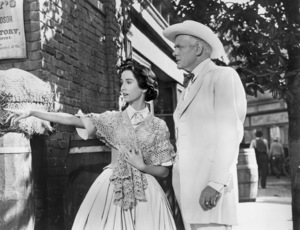 "Maggie McNamara and Charles Bickford in ""Prince of Players""1955 20th Century-Fox** I.V. - Image 24359_0002"