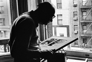 """Arthur C. Clarke at the Chelsea Hotel in New York City, where he wrote """"2001: A Space Odyssey""""circa 1964© 1978 Peter Angelo Simon - Image 24364_0005"""