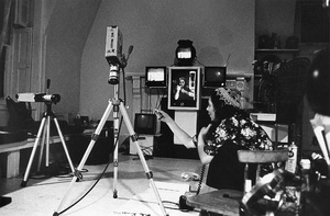 Shirley Clarke conducting pioneering video workshops in her Chelsea Hotel penthouse studio and on the Hotel