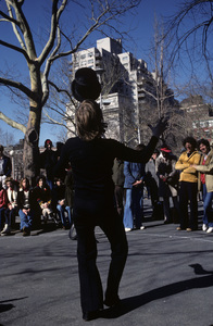 Philippe Petit street act at Washington Square Park in Greenwich Village, New York Citycirca 1984© 1984 Peter Angelo Simon - Image 24364_0053