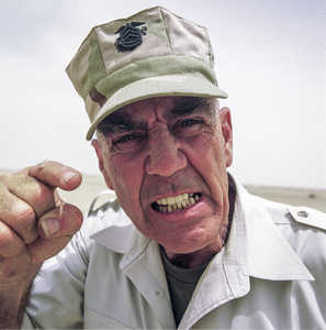 "R. Lee Ermey in Iraq filming the television show ""Mail Call""2003© 2003 Viktor Hancock - Image 24366_0154"