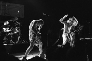 Red Hot Chili Peppers (Anthony Kiedis, Flea) at the Palace in Hollywood1985© 1985 Ivy Ney - Image 24372_0015