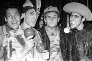 Red Hot Chili Peppers (Anthony Kiedis, Flea, Cliff Martinez, Jack Sherman)circa 1985© 1985 Ivy Ney - Image 24372_0021