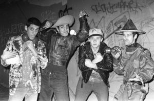Red Hot Chili Peppers (Anthony Kiedis, Flea, Cliff Martinez, Jack Sherman)circa 1985© 1985 Ivy Ney - Image 24372_0022