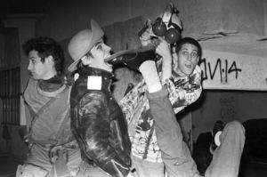 Red Hot Chili Peppers (Anthony Kiedis, Flea, Cliff Martinez, Jack Sherman)circa 1985© 1985 Ivy Ney - Image 24372_0023