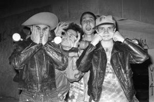 Red Hot Chili Peppers (Anthony Kiedis, Flea, Cliff Martinez, Jack Sherman)circa 1985© 1985 Ivy Ney - Image 24372_0024