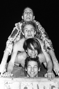 Red Hot Chili Peppers (Anthony Kiedis, Flea, Cliff Martinez, Jack Sherman)circa 1985© 1985 Ivy Ney - Image 24372_0026