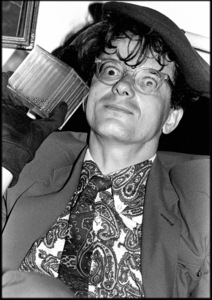 "Mark Mothersbaugh, the frontman of the American band ""Devo,"" pictured here during a night out at Chez Moi in Las Vegas1985© 1985 Ivy Ney - Image 24372_0032"