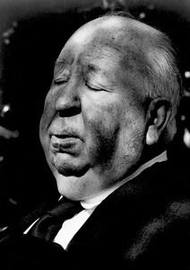 Alfred Hitchcock at his Bel Air home 1977© 1978 Steve Banks - Image 24377_0029