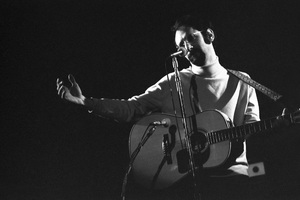 """Peter Yarrow of """"Peter, Paul and Mary"""" performing in Stamford, Connecticut 1967© 1978 Steve Banks - Image 24377_0049"""