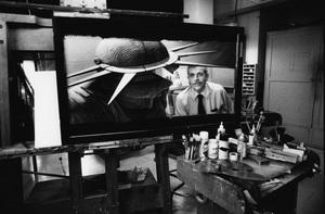 Albert Whitlock at Universal Studios 1979© 1979 Steve Banks - Image 24377_0059