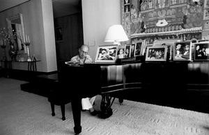 Sammy Cahn at his Beverly Hills home1982© 1982 Steve Banks - Image 24377_0079