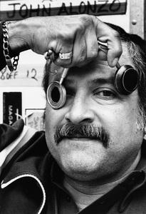 John A. Alonzo at his Brentwood, California home 1983© 1983 Steve Banks - Image 24377_0125