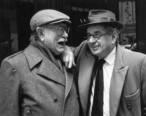 Lou Dorfsman and Henry Wolf in New York City 1989© 1989 Steve Banks - Image 24377_0139