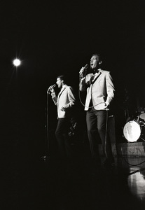 Bill Medley and Bobby Hatfield of The Righteous Brothers performing at the Cocoanut Grove 1965 © 1978 Steve Banks - Image 24377_0177