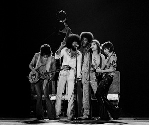 The Rolling Stones (Ronnie Wood, Billy Preston, Mick Jagger, Keith Richards) at The Form (Inglewood, CA)1975© 1978 Steve Banks - Image 24377_0185