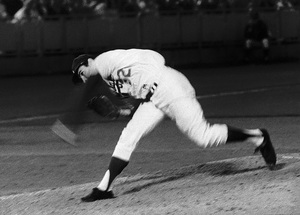 Sandy Koufax pitching for the the Los Angeles Dodgers 1965© 1978 Steve Banks - Image 24377_0193