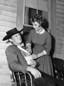 """Outlaws""Don Collier, Judy Lewiscirca 1960** J.C.C. - Image 24378_0001"