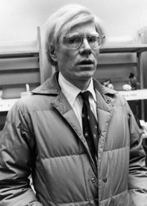 Andy Warhol at a press event at the Citicorp Center1978© 1978 Michael Mella - Image 24382_0002