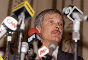 Ted Turner at a press conference1985 © 1985 Michael Mella - Image 24382_0010