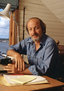 E. L. Doctorow at his home in Sag Harbor, NY  1980© 1980 Michael Mella - Image 24382_0023