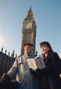 Photographer Michael Mella in front of Big Ben in London1994© 1994 Michael Mella - Image 24382_0025