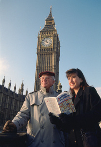 Photographer Michael Mella in front of Big Ben in London1994© 1994 Michael Mella - Image 24382_0025