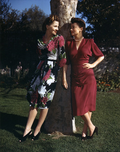 Joan Fontaine and Olivia de Havillandcirca 1940s** I.V. - Image 24383_0068