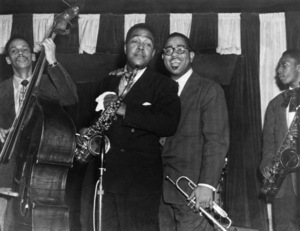 Charlie Parker with Tommy Potter, Dizzy Gillespie and John Coltrane at Birdland in New York City1951** I.V.M. - Image 24383_0092