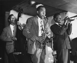 Charlie Parker with Tommy Potter and Miles Davis at the Three Deuces in New York City1947** I.V.M. - Image 24383_0101